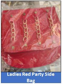 Ladies Red Party Side Bag