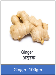 Ginger (अदरक) – 250 gm.