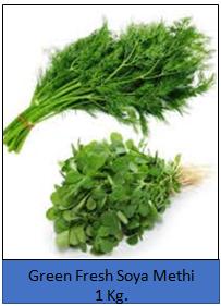 Green Fresh Soya Methi- 1Kg. in Gonda City