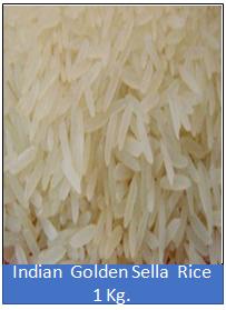 Indian Golden Sella Rice 1 Kg.