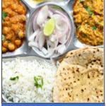 Veg. Simple Thali – 2 Sabji, 4 Roti, Daal, Chawal, Salad in Gonda