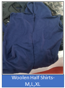 Woolen Half Shirts- M,L,XL