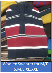 Woolen Sweater for Male and Female -S,M,L,XL,XXL