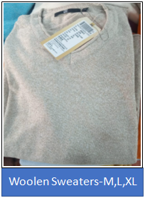 Woolen Sweaters -M,L,XL
